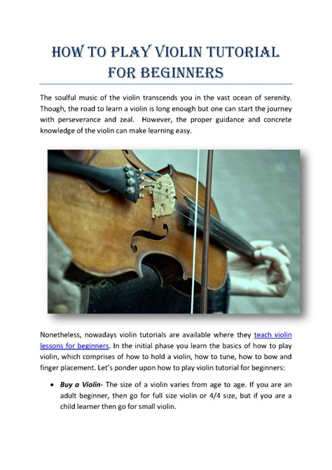 tutorial c beginners how to play violin tutorial for beginners authorstream