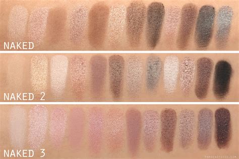 3 Eyeshadow Decay decay 3 palette comparisons 2