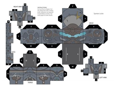 Halo Papercraft - build your own cubee master chief or spartan locke