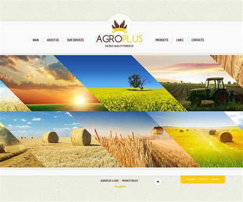 agriculture themes html agriculture flash template 44837