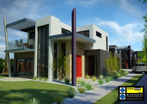town house designs architect designed home alterations townhouses plans melbourne design edge associates