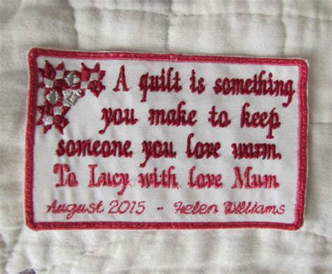 Handmade Labels For Quilts - items similar to custom quilt label personalized for your