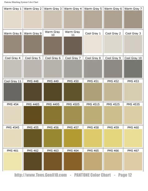 pantone color chart pms screen printing