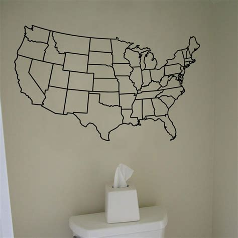 map usa vinyl us united states map wall decal vinyl sticker graphic