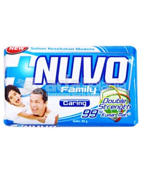 Sabun Nuvo adabelanja nuvo family caring bar soap 80g sabun pribadi shopping start from here