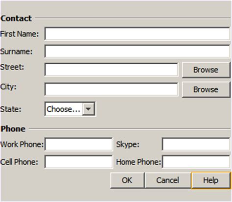 java layout right to left designing an advanced java form using the gridbag