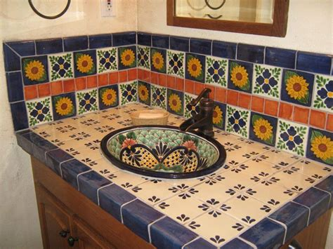 mexican tile kitchen backsplash mexican tile backsplash cabinet hardware room