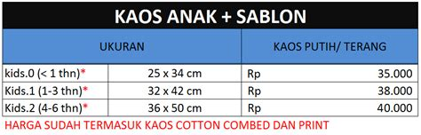 Kaos Sablon Anak Kaos Sablon Digital Dtg Anak Kaos Animasi 10 jasa sablon kaos satuan lusinan murah berkualitas harga