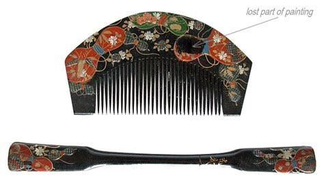 how to comb asian hair japanese antique hair accessories wooden comb and pull