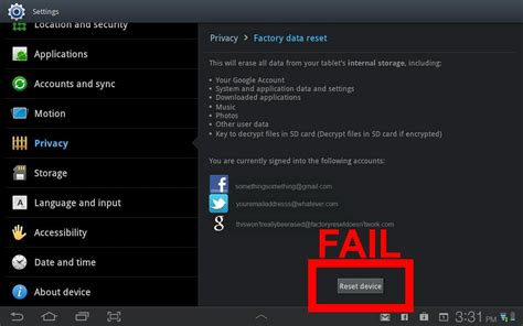 warning factory resetting your android may leave data on your device digital trends