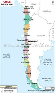 chile political map political map of chile chile