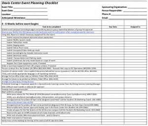 Event Checklist Template by Event Checklist Template 11 Free Word Excel Pdf