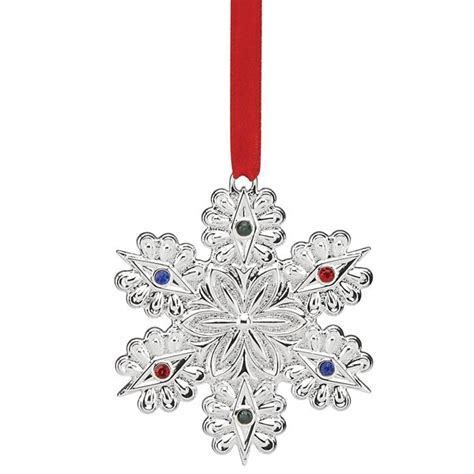lenox twelve days of christmas snowflake ornaments 2016 jeweled snowflake ornament lenox ornaments