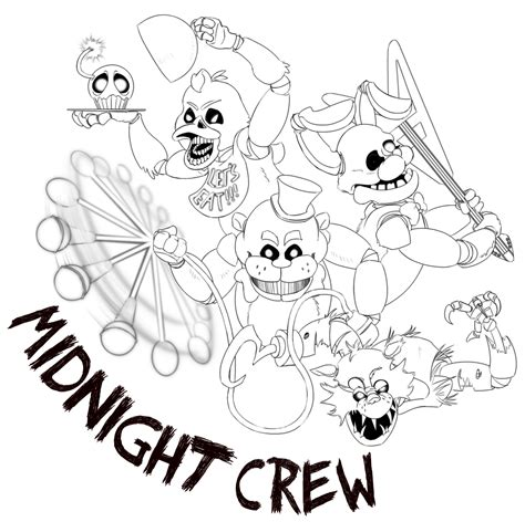 Fnaf 7 Coloring Pages by Fnaf Coloring Pages All Characters Coloring For