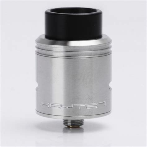 Kryten Styled Rda Rebuildable Atomizer Silver sxk kryten style rda silver 316 ss rebuildable atomizer with bf pin