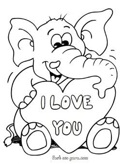 elephant valentine coloring pages printable valentines day teddy elephant card coloring