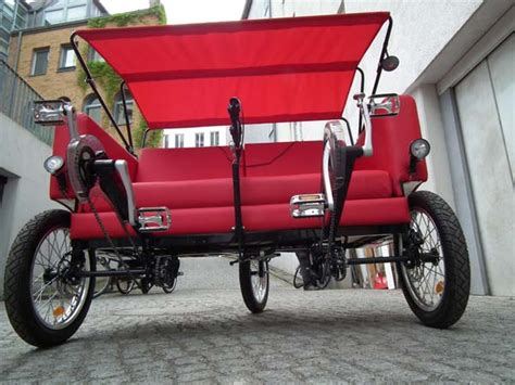 couch bike fun sofa bike takes walks around town to new level video