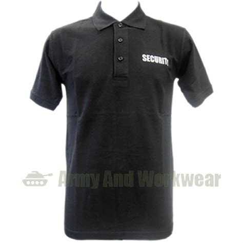 Polo T Shirt Kaosbaju Scurity security guard bouncer doorman collar polo t shirt ebay