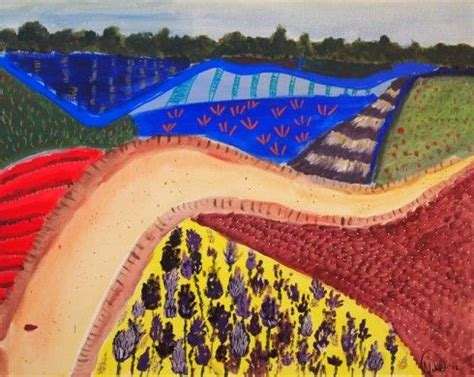 Landscape Paintings Ks2 1000 Images About David Hockney On