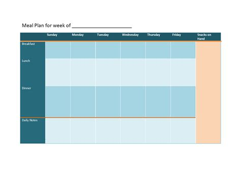 meal planning template new calendar template site