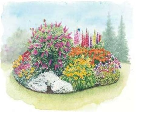 perennial flower garden design garden pinterest