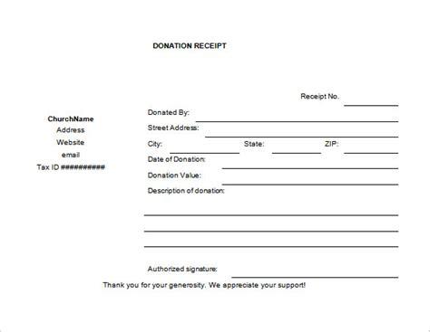 charitable donation receipt letter donation receipt template