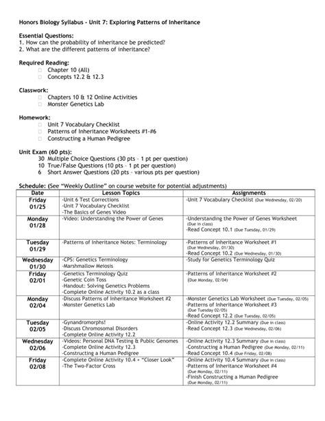 patterns inheritance quiz patterns of inheritance worksheet resultinfos