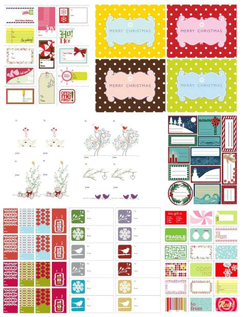 mixed bag of treats free christmas printable tags amp labels