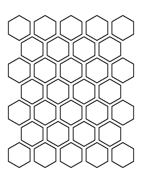 5 inch hexagon template 1 5 inch hexagon pattern use the printable outline for