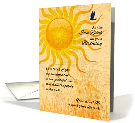 printable romantic birthday cards for husband husband s birthday romantic sunrise card 430246