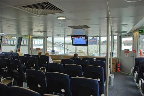 thames clipper inside comfy inside picture of mbna thames clippers london