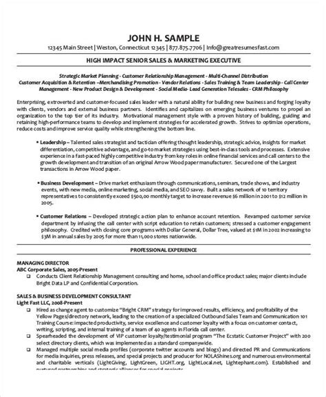 best executive resume templates 26 free word pdf