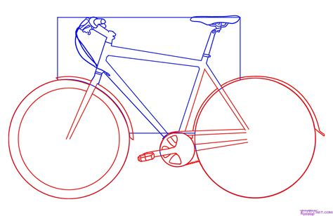 bike frame template how to draw a bicycle step by step stuff pop culture