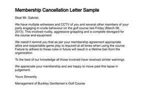 Cancellation Letter Of Membership Membership Cancellation Letter Sle Search Engine At Search