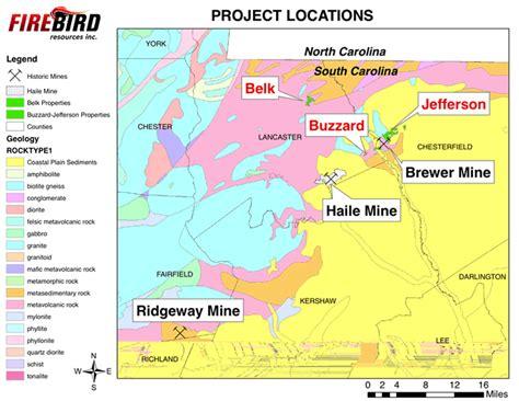 carolina gold map firebird resources inc projects wed nov 1 2017