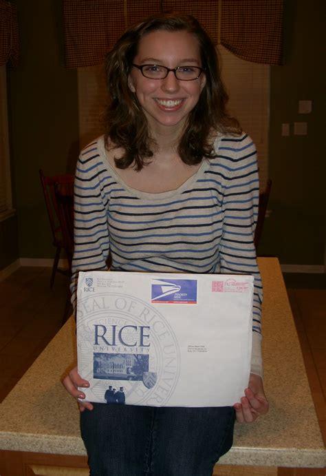 Rice Acceptance Letter Admission Owl Admission