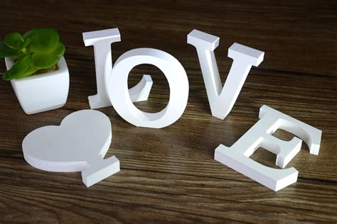 decorative letters for home free standing moza 7x8 cm standing english love letters decorative