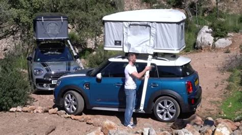 tenda sul tetto mini countryman autohome firma la tenda da tetto auto it