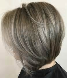 grey hair on mid length hair short to medium layered bob hairstyles the best haircut