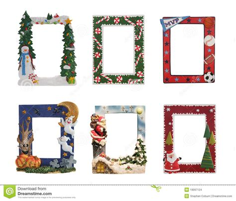 themed picture frames and sports themed picture frames stock photo