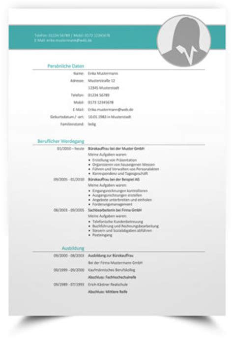 Lebenslauf Vorlage Tabellenform Professionelle Lebenslauf Muster Und Vorlagen 2017