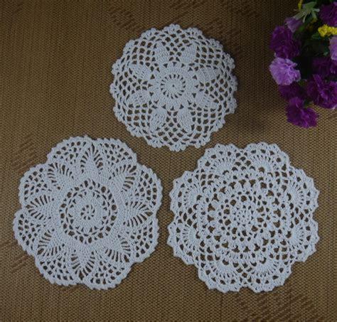 Handmade Crochet Designs - 3d pentagram crochet doily handmade crochet cup mat