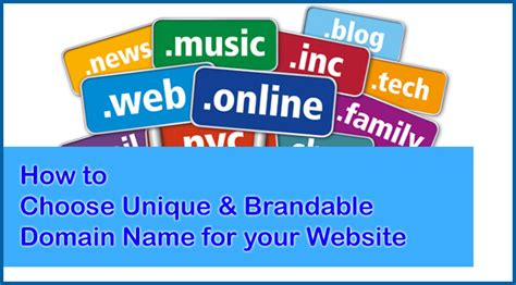 tips on choosing a branded domain name for your website
