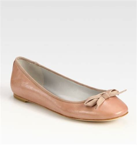 vera wang shoes flats vera wang lavender leather bow ballet flats in beige
