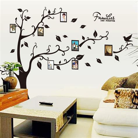Wall Sticker Uk 60 X 90 120x170cm photo tree frame wall sticker for family
