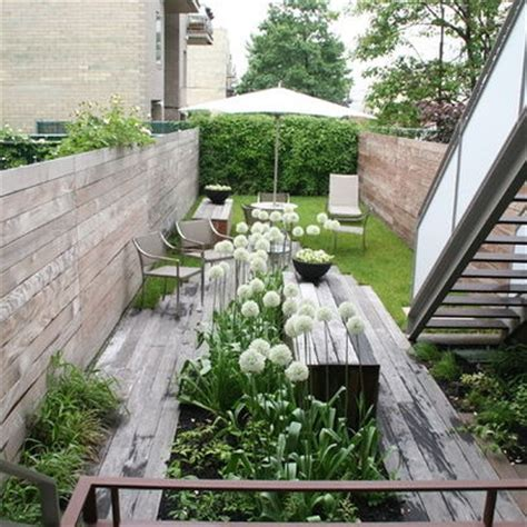 Narrow Backyard Design Ideas Linear Small Garden Space