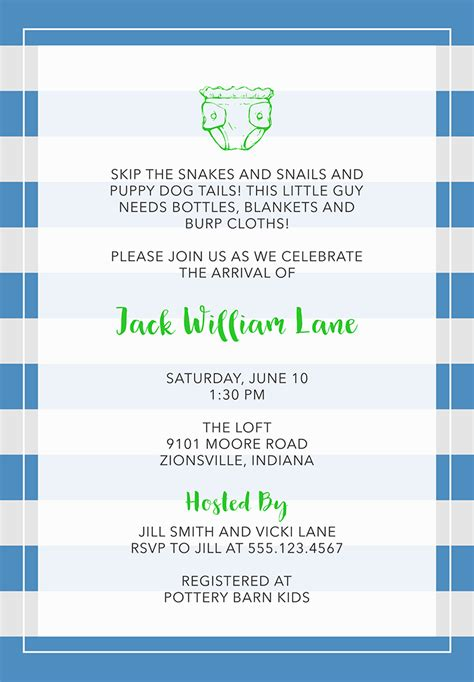 Baby Shower Invitation Messages For Boy by 22 Baby Shower Invitation Wording Ideas