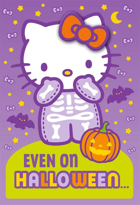 Hello Kitty Cute Is Al Ys In Style Halloween Card With