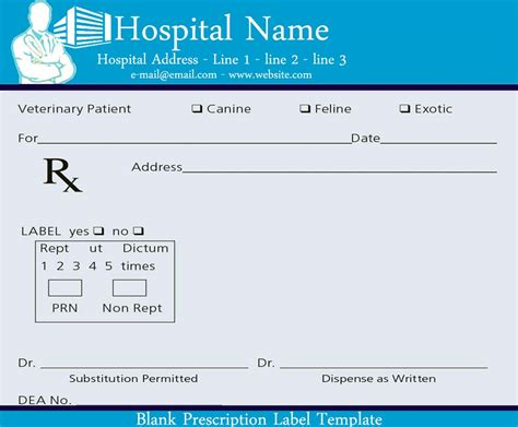 prescription template blank prescription www imgkid the image kid has it
