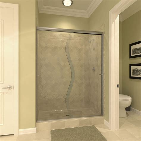 bypass glass shower doors sliding bypass convertabath 174
